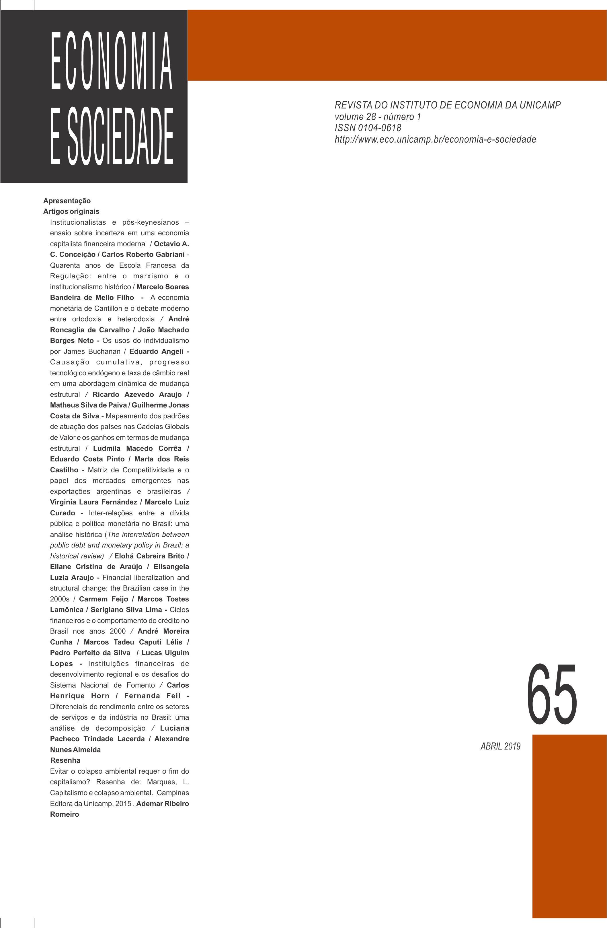 Vol. 28, N. 1 (65), p. 1-289, abr. (2019)